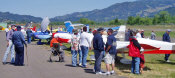 Row of Zodiac aircraft at the Open House